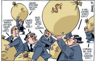 Repartiendo bonus y despidos