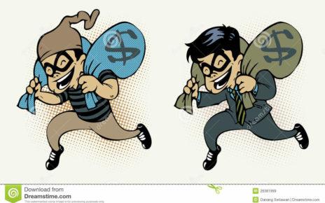 Banqueros robando