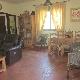 Salon con chimenea rustica