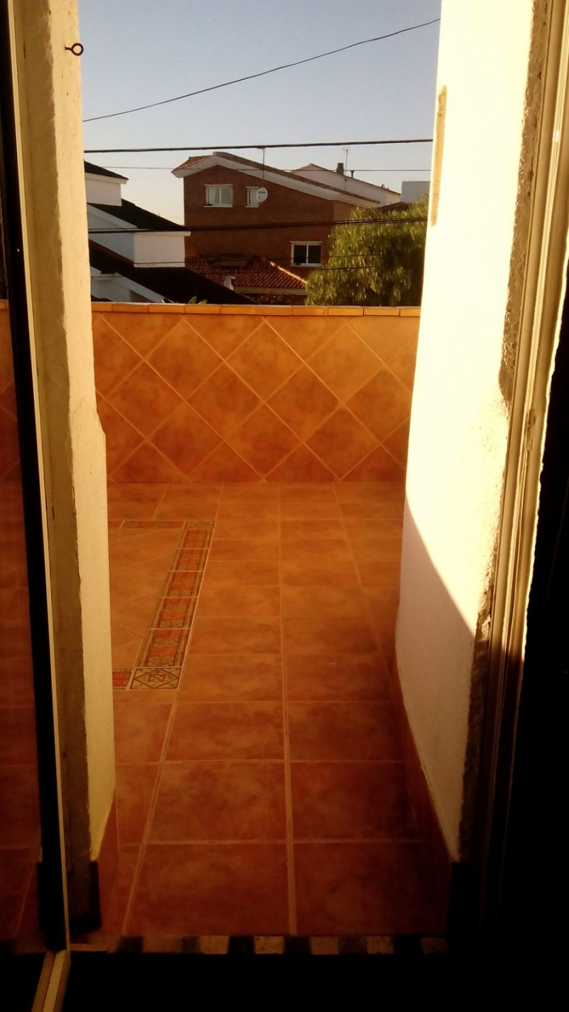 Terraza piso superior. Solarium