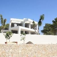 Villa de estilo moderno en construcción, en Moraira