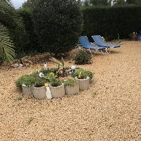 Villa en venta con jardín urbanización La Vallesa de Calpe